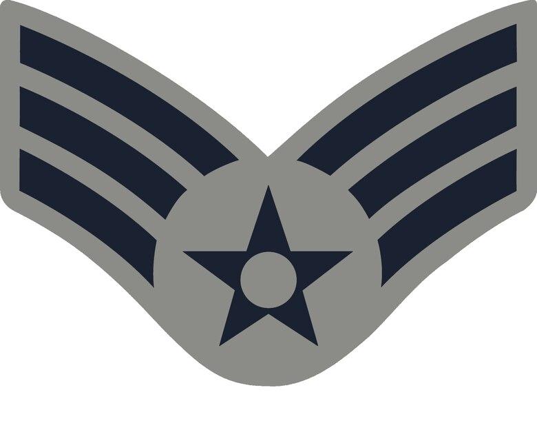 Senior Airman, E-4, (ABU color), U.S. Air Force graphic