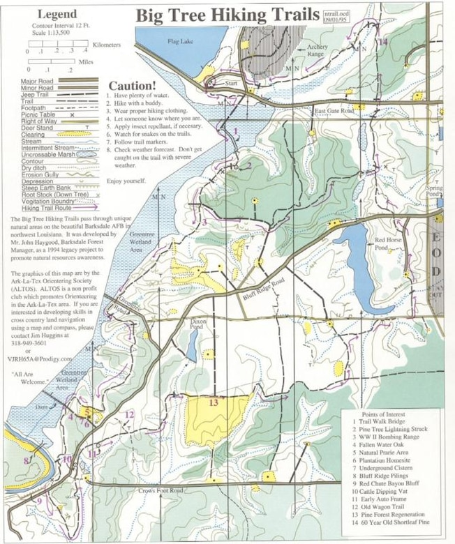 A map of the East Reservation trails.