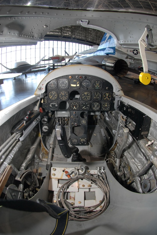 DAYTON, Ohio - The cockpit of the Northrop X-4 in the Research & Development Gallery at the National Museum of the U.S. Air Force. (U.S. Air Force photo)