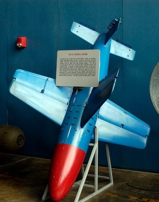 DAYTON, Ohio - The VB-9 Guided Bomb on display in the Research & Development Gallery at the National Museum of the U.S. Air Force. (U.S. Air Force photo)