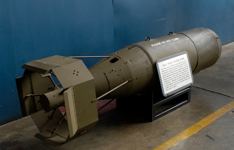 DAYTON, Ohio - The VB-6 Felix Guided Bomb on display in the Research & Development Gallery at the National Museum of the U.S. Air Force. (U.S. Air Force photo)