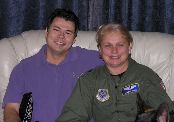 Mike Lehnen and his wife, Lt. Col. Lorena Cook.