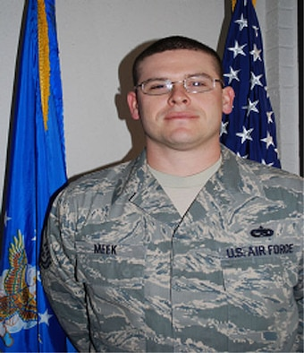Master Sgt. Michael Meek, a satellite and wideband crew chief for the 35th Combat Communications Squadron, was selected as 507th Air Refueling Wing Senior NCO of the Year.