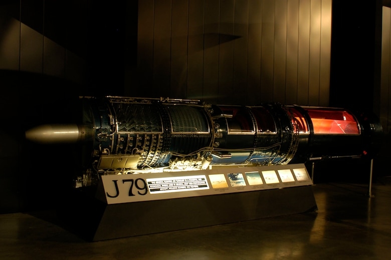 DAYTON, Ohio -- General Electric J79 engine on display in the Cold War Gallery at the National Museum of the United States Air Force. (U.S. Air Force photo)