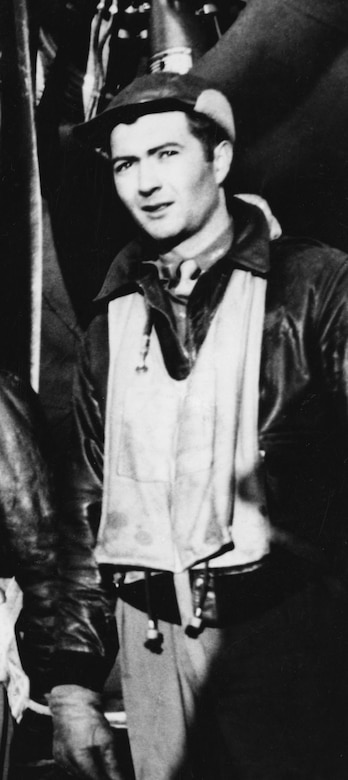 DAYTON, Ohio - Mathis in his flight gear in England. (U.S. Air Force photo)