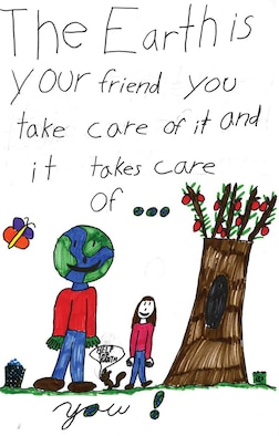 SCOTT AIR FORCE BASE, Ill. -- One of four posters designed by Scott Elementary children for Earth Week.