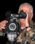 Artistic representation of a video camera operator for graphic uses on the Public Web Page.