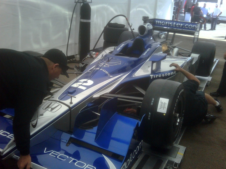 First Air Force Indy Car Gets Ready To Race Us Air Force