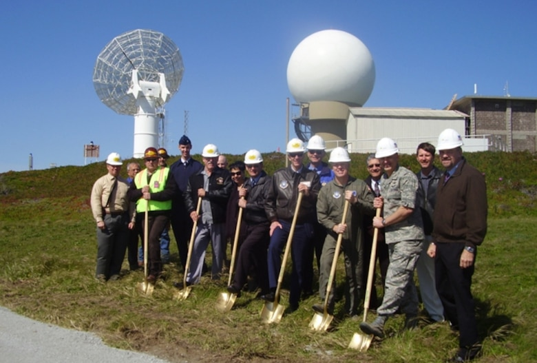 Members of the Launch Range Systems Wing and the Spacelift Range System Contract Team participated in a groundbreaking ceremony for the West Coast's newest Command Transmitter site at Pillar Point Air Force Station in Half Moon Bay, Calif., March 23.