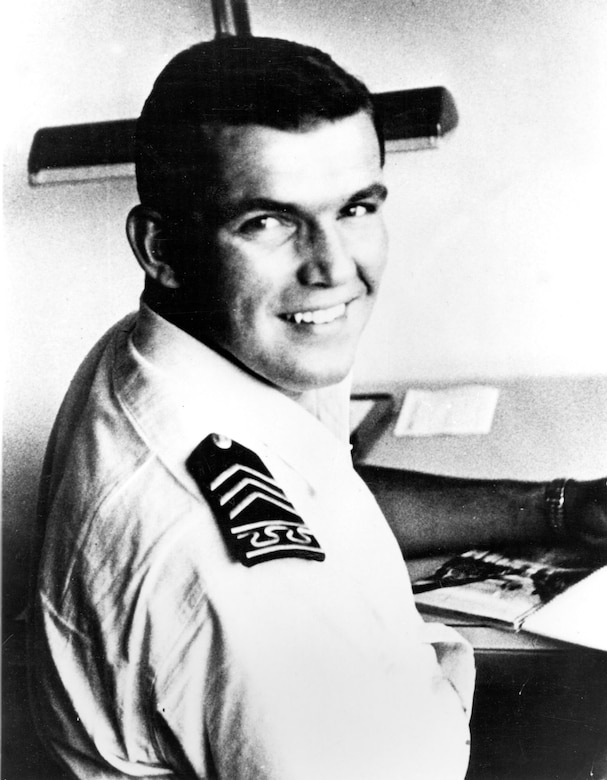 Lance P. Sijan at the Air Force Academy. (U.S. Air Force photo)