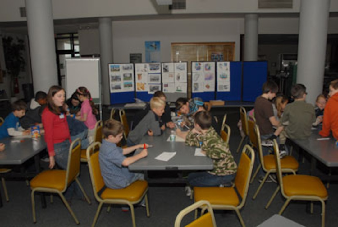 """On April 23rd, the 174th Fighter Wing Family Program Office hosted a """"Take Your Daughter and Sons to Work Day"""" event.  Twenty-six children of full-time members of the 174th Fighter Wing were in attendance.  (US Air Force photo by Capt. Anthony L. Bucci/RELEASED)"""