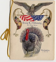 7th CAVALRY THANKSGIVING MENU AND ROSTER, 1910.  Elaborate holiday meals were a stark contrast to the typical fare of the outpost Soldier.
