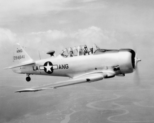 A-T6Texan Aircraft from the Louisiana Air National Guard (Scanned Photo)
