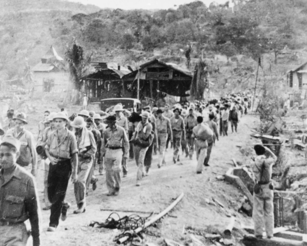 POWs on the Bataan Death March. (U.S. Air Force photo)