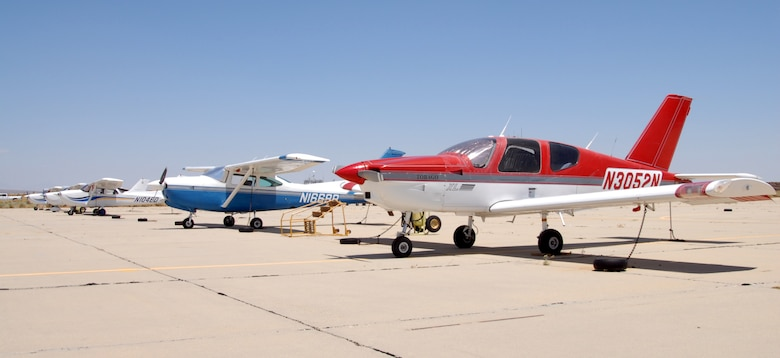 Aero Club features a fleet of six single-engine fixed-wing aircraft as well as licensed instructors, which include a chief and two full-time flight instructors. Active-duty personnel, retired military, Reserve component members, Reserves Officer Training Corps cadets, civilian Department of Defense employees, Civilian Air Patrol members, government contractors and others who support the DoD mission and their family members are all eligible to join.(U.S. Air Force photo/Senior Airman Julius Delos Reyes)