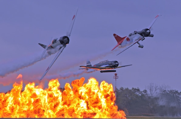 TORA TORA TORA is a re-creation of the December 7th 1941 attack on Pearl Harbor. TORA provides breathtaking smoke, fire and explosions from the pyrotechnics team. The purpose is to create a dynamic history lesson about the event that propelled us into World War II .....and entertain.