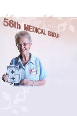 Red Cross Volunteer, Betty Grenig, 88, was recently presented the U.S. Air Force Chief of Staff Volunteer Excellence Award at a ceremony at Luke Air Force Base, Ariz.