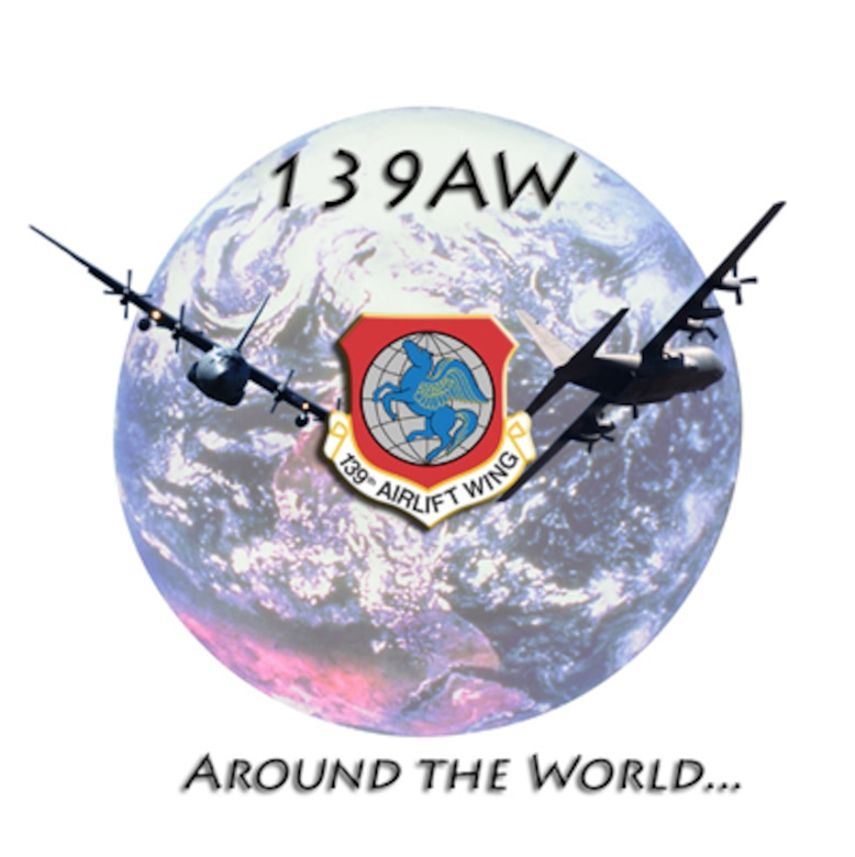 Around the World, 139th Airlift Wing Graphic.