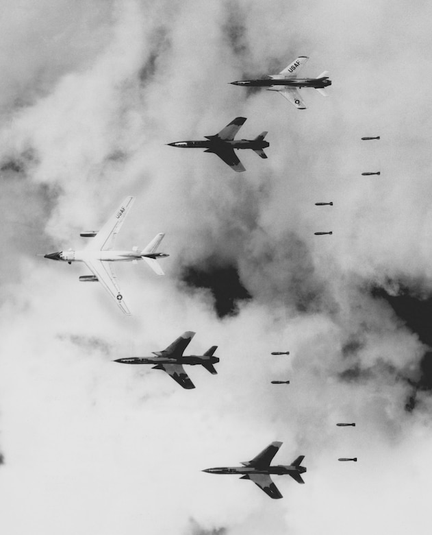 Specialized RB-66s helped F-105s bomb in North Vietnam's frequently poor weather conditions. (U.S. Air Force photo)