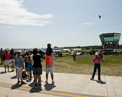 Members of the 139th Airlift Wing participate in the Wing Nuts air show in Tarkio Missouri on July 11, 2009. The air show is an annual event in which the 139th participates in for training purposes and community relations. (U.S. Air Force photo by Master Sgt. Shannon Bond)