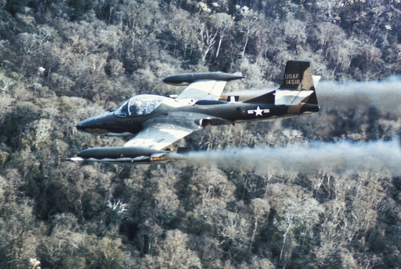 USAF A-37 light attack aircraft provided close air support. (U.S. Air Force photo)