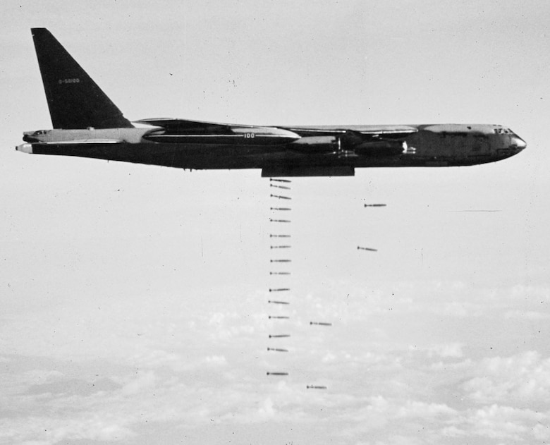 The 1969 B-52 offensive in Cambodia was code-named OPERATION MENU. (U.S. Air Force photo)