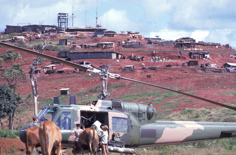 USAF special operations helicopters often flew missions to Cambodia from bases in Laos. (U.S. Air Force photo)