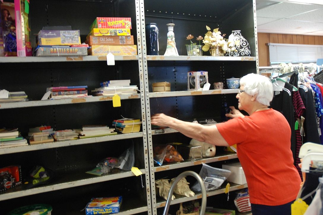 The Dobbins Thrift Shop offers everything from baby furniture to clothing, household items to shoes and more. Consignors can set their own prices on items, and receive an 80-20 split. (U.S. Air Force photo/Kennith Green)