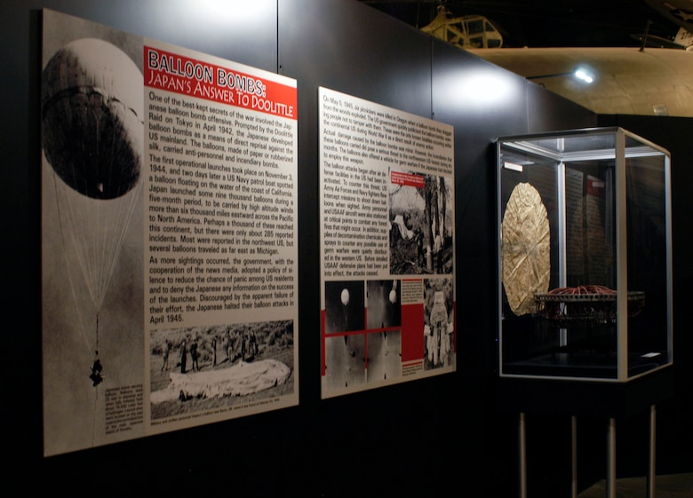 DAYTON, Ohio -- Japanese Balloon Bombs exhibit in the World War II Gallery at the National Museum of the U.S. Air Force. (U.S. Air Force photo)