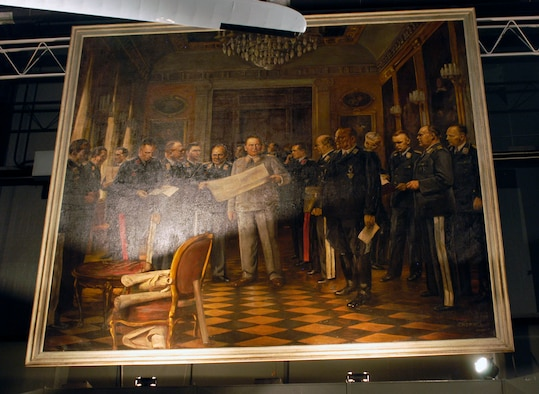 DAYTON, Ohio -- Oil painting of Luftwaffe General Staff on display at the National Museum of the U.S. Air Force. (U.S. Air Force photo)
