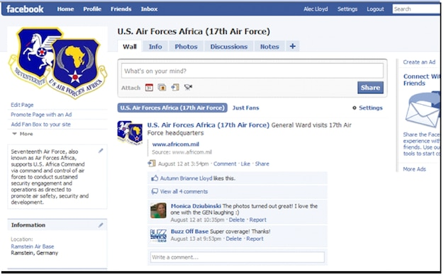 17th Air Force (U.S. Air Forces Africa) is now on Facebook.