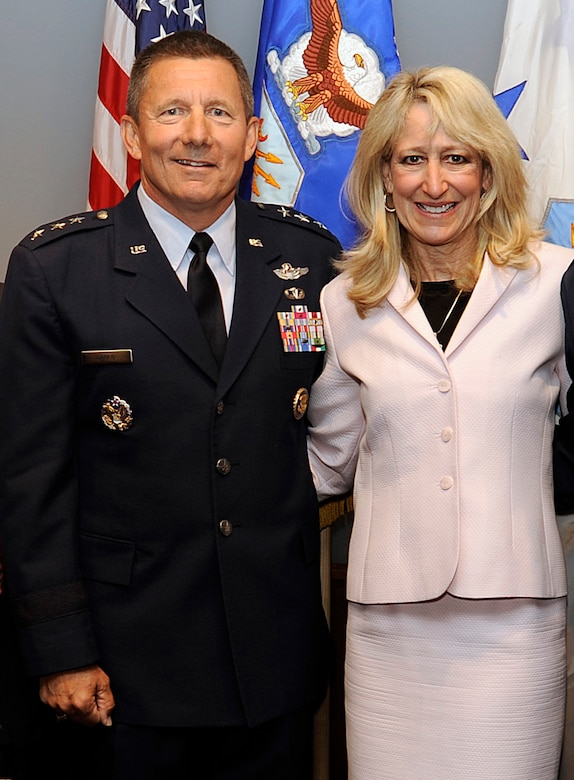 Lt. Gen. Mike Gould assumed the role of U.S. Air Force Academy superintendent in a ceremony June 9, 2009. He is pictured here with his wife, Paula. (U.S. Air Force photo/Mike Kaplan)