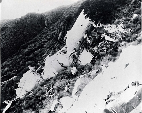 Crash site of the C-47 The Flying Dutchman. (U.S. Air Force photo)
