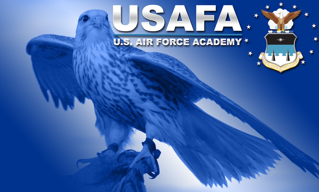 The Air Force Academy's Class of 1959, the first to graduate from the Academy, chose the falcon as its mascot Sept. 25, 1955, feeling that it best characterized the combat role of the United States Air Force. Falcons tour the United States with members of the Cadet Wing's falconry program, attending airshows and college sports events. (Original U.S. Air Force photo/David R. Armer)