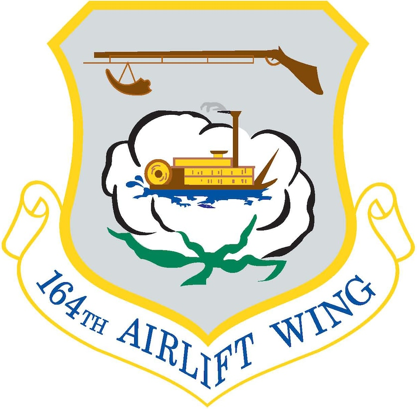 164th Airlift Wing Shield (Color)