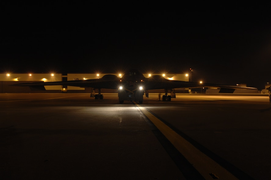 WHITEMAN AIR FORCE BASE, Mo. - Members of the 509th Aircraft Maintenance Squadron tow a B-2, Spirit of South Carolina, to the wash rack Aug. 27.  The B-2 is scheduled for a wash, which is required every 180 days and takes one to two days to complete.  (U.S. Air Force photo/Senior Airman Jessica Snow)