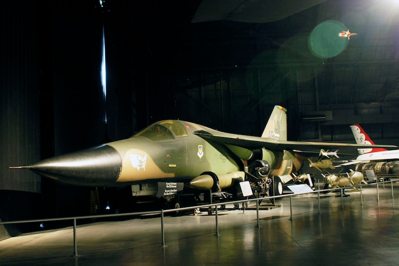 DAYTON, Ohio -- General Dynamics F-111F in the Cold War Gallery at the National Museum of the United States Air Force. (U.S. Air Force photo)