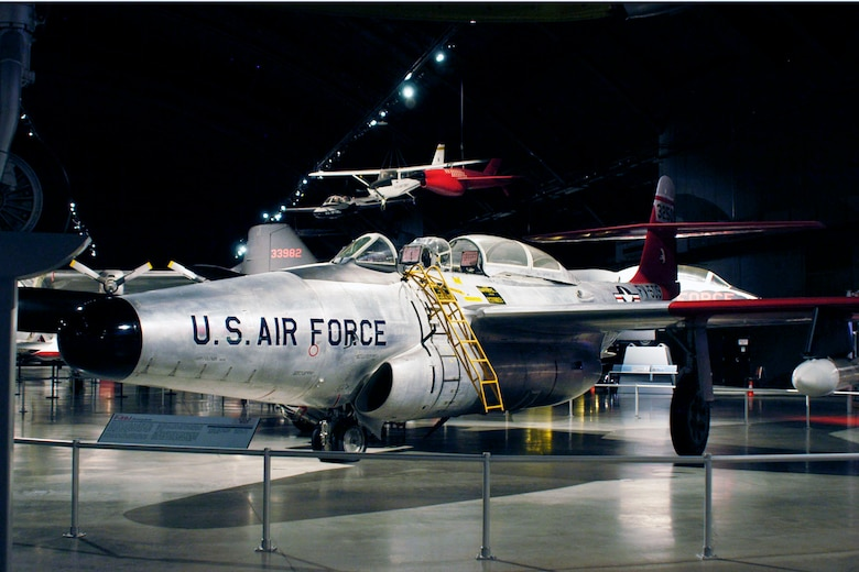 DAYTON, Ohio -- Northrop F-89J Scorpion in the Cold War Gallery at the National Museum of the United States Air Force. (U.S. Air Force photo)