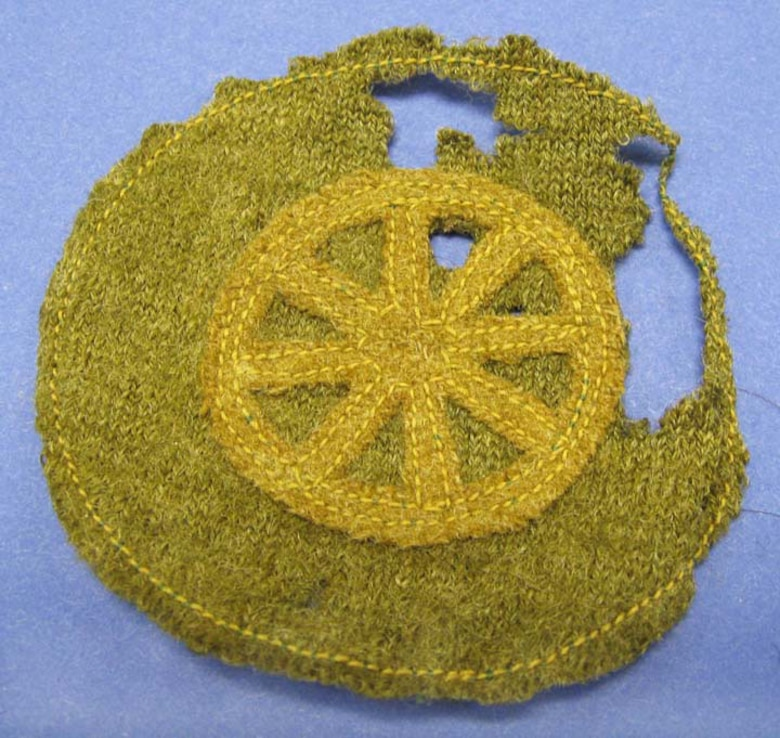 "According to the donor, this item comes from Lt. Gareth Williams. It was worn on the lower forearm sleeve indicating ""Wagoner."" This badge appears to be from the 1917-1918 period. (U.S. Air Force photo)"