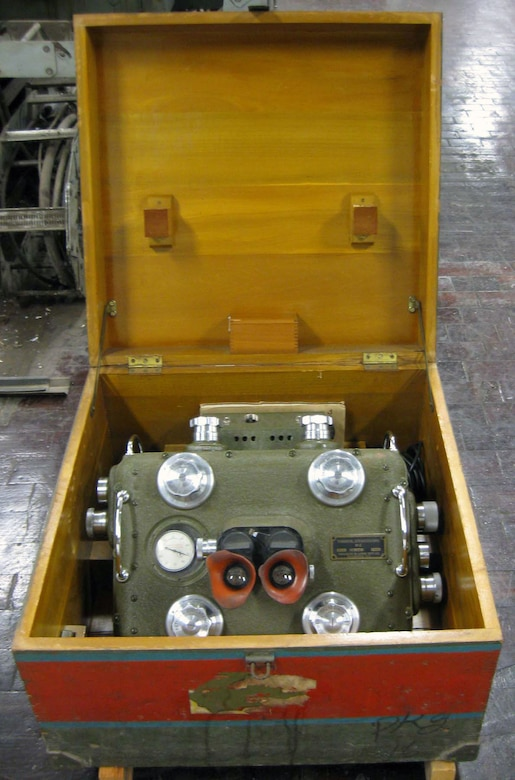 Aerial observers during World War II were trained specifically to use stereoscopic equipment to determine aircraft range and altitude. This artifact originally belonged to the donor's father-in-law, Anthony V. Stelzer. (U.S. Air Force photo)