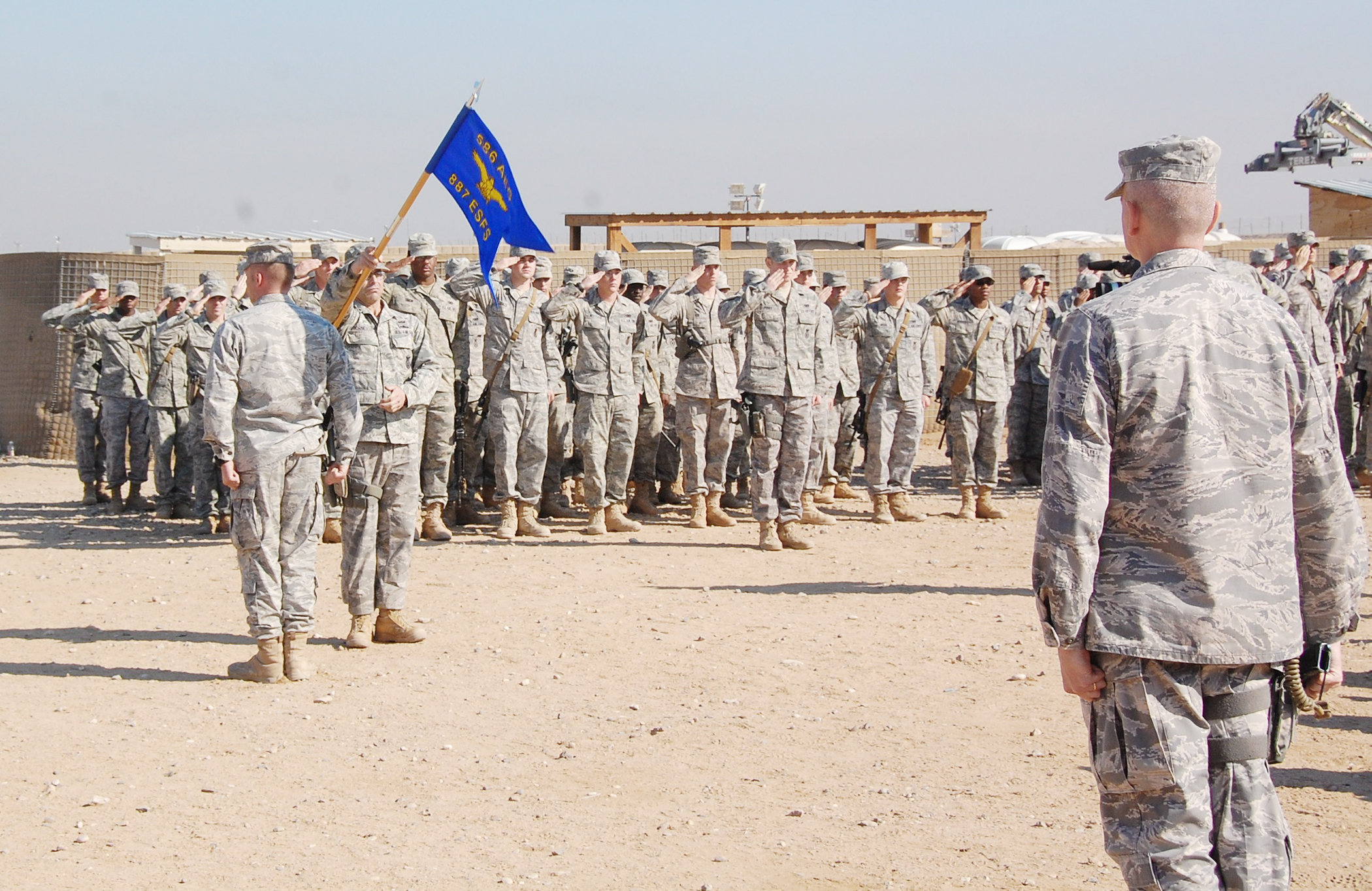 Security Forces Airmen End Operations At Camp Bucca