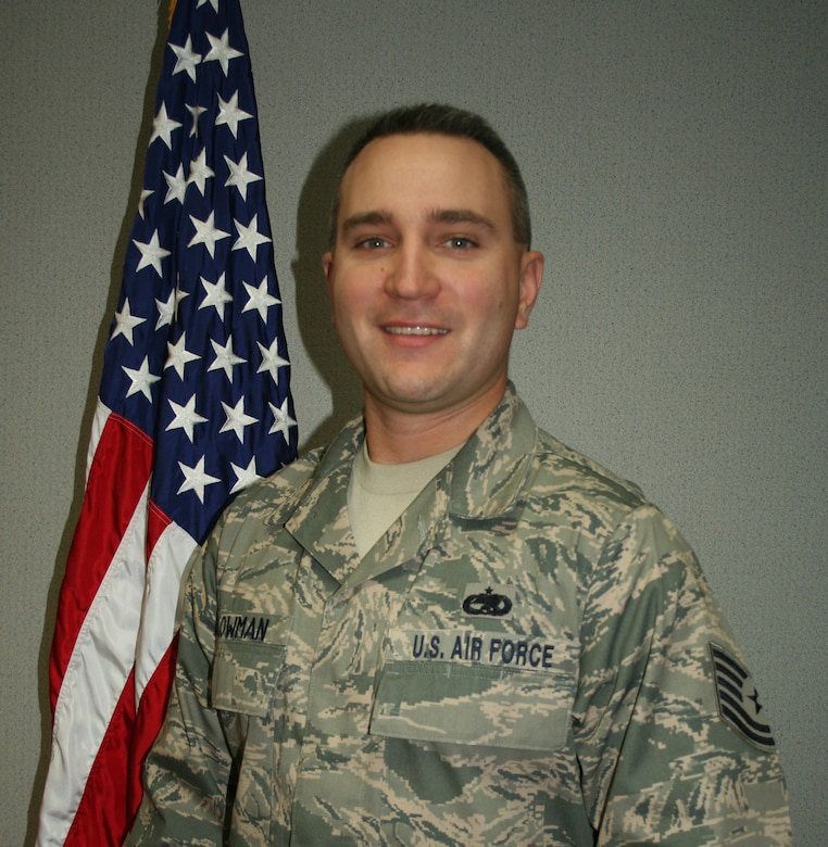 WRIGHT-PATTERSON AIR FORCE BASE, Ohio - Tech. Sgt. Nathan Lowman is the Non-Commissioned Officer of the Quarter. He is assigned to the 445th Maintenance Operations Flight. Sergeant Lowman processed more than nine million pounds of mail while deployed to Ali Al Salem Air Base, Kuwait. He is a self aid buddy care instructor for MOF. He is active in the local community to include escorting World War II veterans to Washington, D.C., and being an active member of the Wounded Warrior Project.