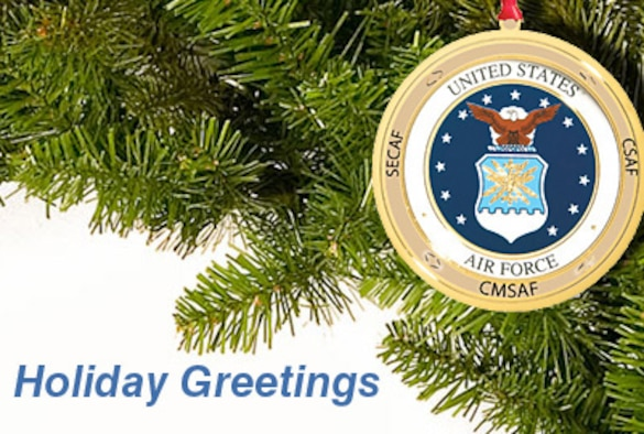 Secretary of the Air Force Michael B. Donley, Air Force Chief of Staff Gen. Norton Schwartz and Chief Master Sgt. of the Air Force James Roy send the Air Force family holiday greetings and remind all to remember those who are apart from family and friends. (Air Force illustration/Billy Smallwood)