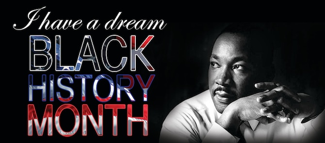 "February is Black History Month. Black history has been recognized annually in America since 1926, when historian Dr. Carter G. Woodson designated the second week in February at ""Negro History Week."" (U.S. Air Force graphic by Senior Airman Kristen Sauls)"