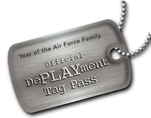 Air Force Services Agency officials will be offering DePLAYment tags to families of deployed members starting Dec. 21 through July 31, 2010, as part of the Year of the Air Force Family. Once registered, the tag-pass holder can use the tags to qualify for free and reduced fee programs, such as free youth classes, instructional classes, sports programs, hourly childcare, and family programs for the family left at home during deployment or upon return of the member. (U.S. Air Force graphic)