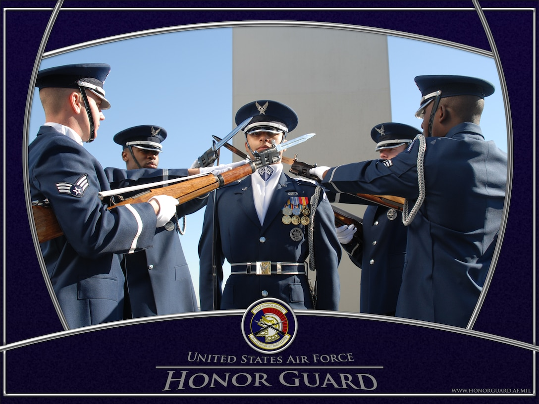 USAF Honor Guard Drill Team, 4-Man.  Graphic by SSgt David Merrick.