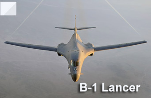 A B-1B Lancer flies a combat patrol over Afghanistan in support of Operation Enduring Freedom. The B-1B has the capability to carry guided and unguided weapons and deliver massive quantities of precision and non-precision weapons against specific targets. (U.S. Air Force illustration)