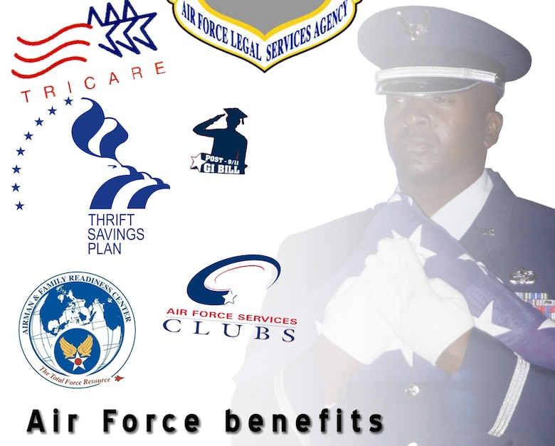 Benefits afforded to members of the Air Force Reserve range in the many. For more information on these benefits, visit www.302aw.afrc.af.mil for more information. (U.S. Air Force photo illustration/Staff Sgt. Stephen J. Collier)