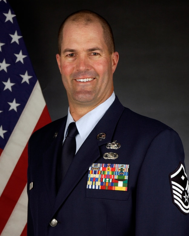 Master Sgt. Sean McCambridge, First Sergeant for the 129th Security Forces Squadron.
