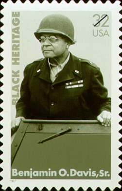 CANNON AIR FORCE BASE, N.M. -- In 1997, a commemorative stamp was dedicated to Benjamin O. Davis Sr., (1877-1970) the first African-American general. (Courtesy photo)